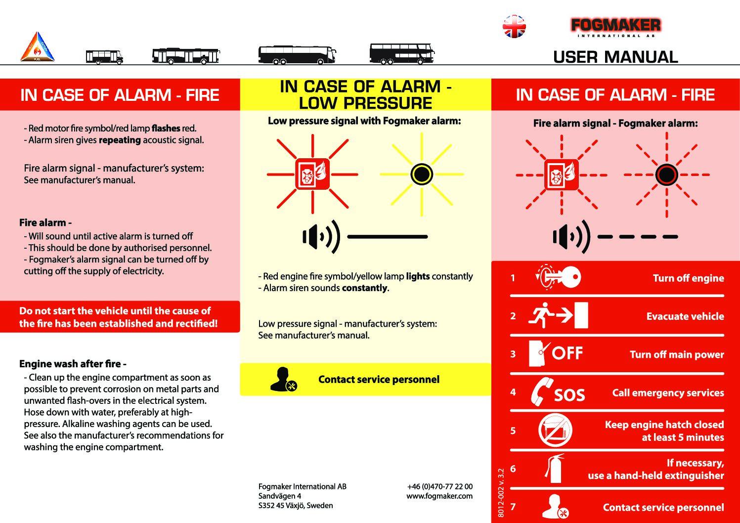 Fogmaker International – Bus Manual