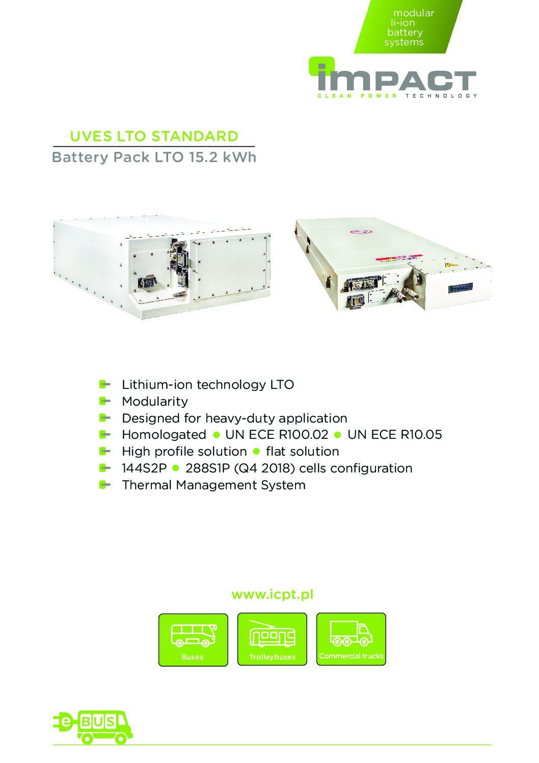 UVES LTO STANDARD Battery Pack