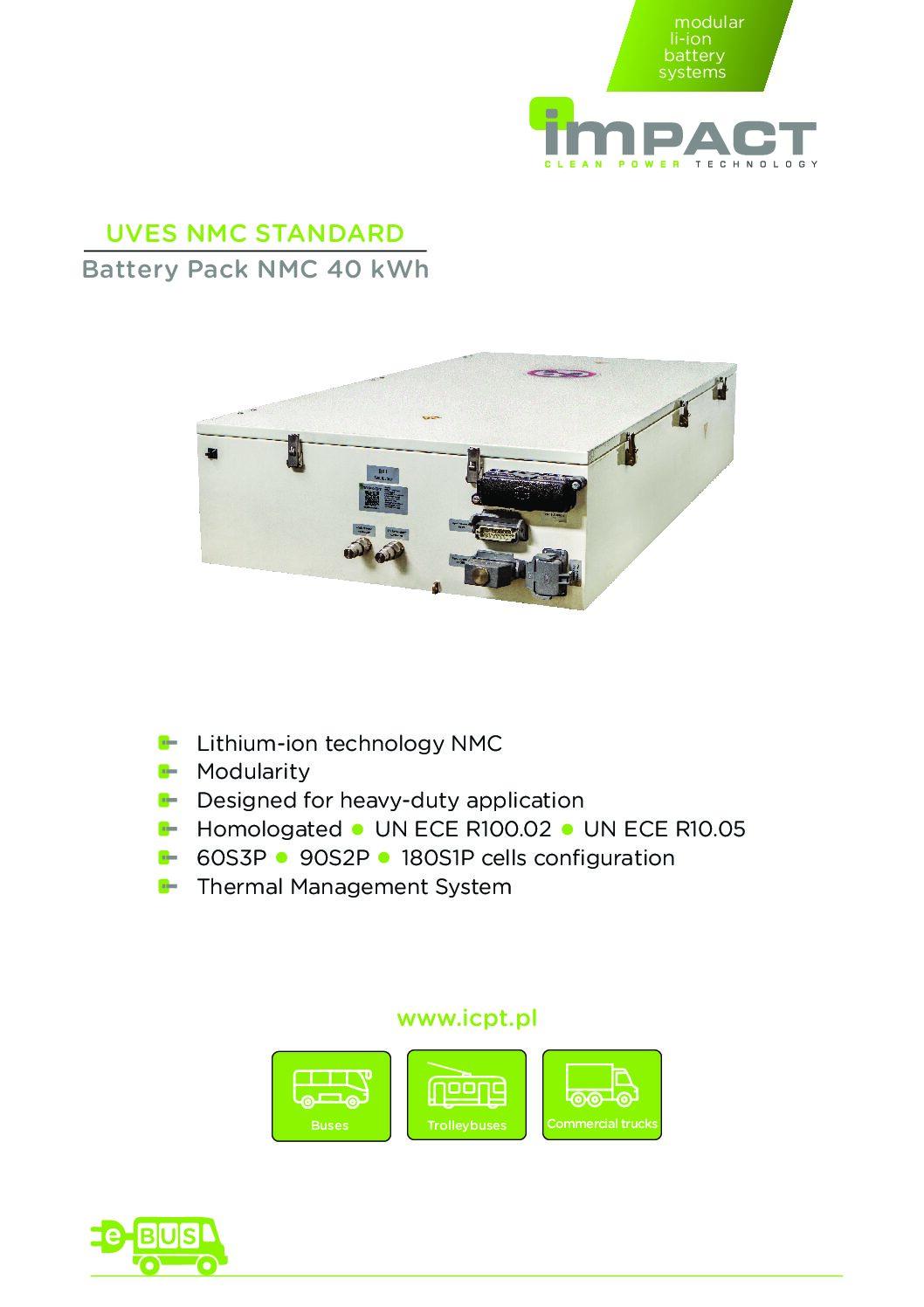 UVES NMC STANDARD Battery Pack
