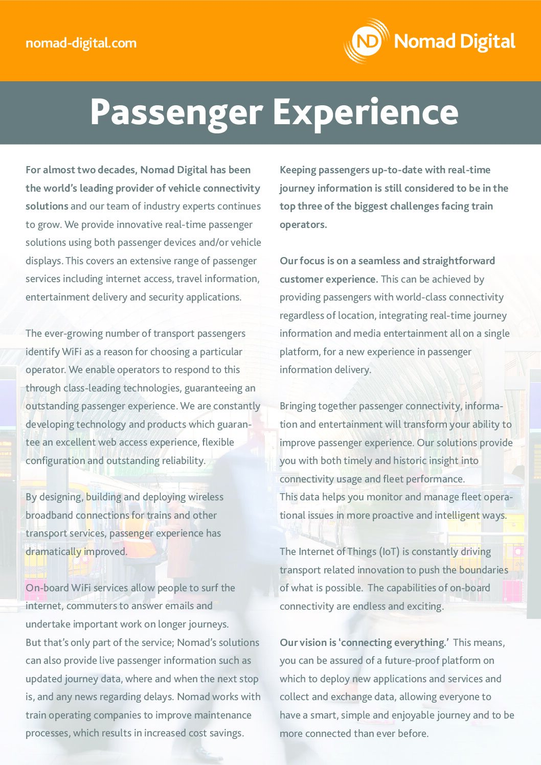 Engage Solutions – Passenger Experience