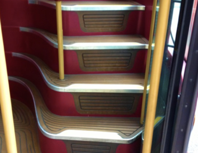 Treadmaster Flooring for Bus Stairs