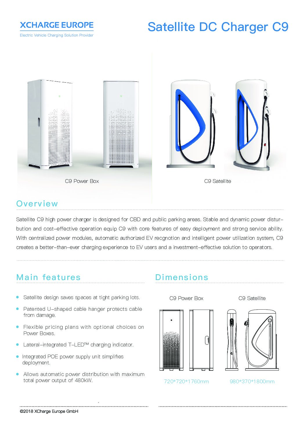 XCHARGE Satellite DC Charger C9 (China)