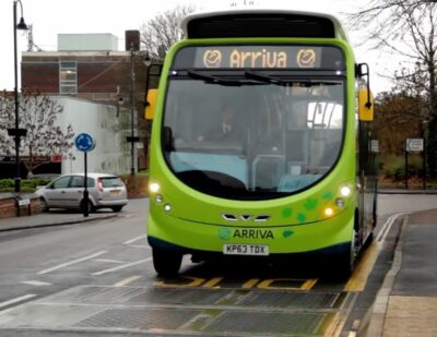 Wireless Charged Electric Bus Milton Keynes