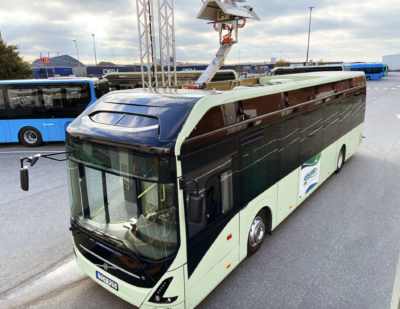 Volvo Presents a New Alternative for Charging Electric Buses