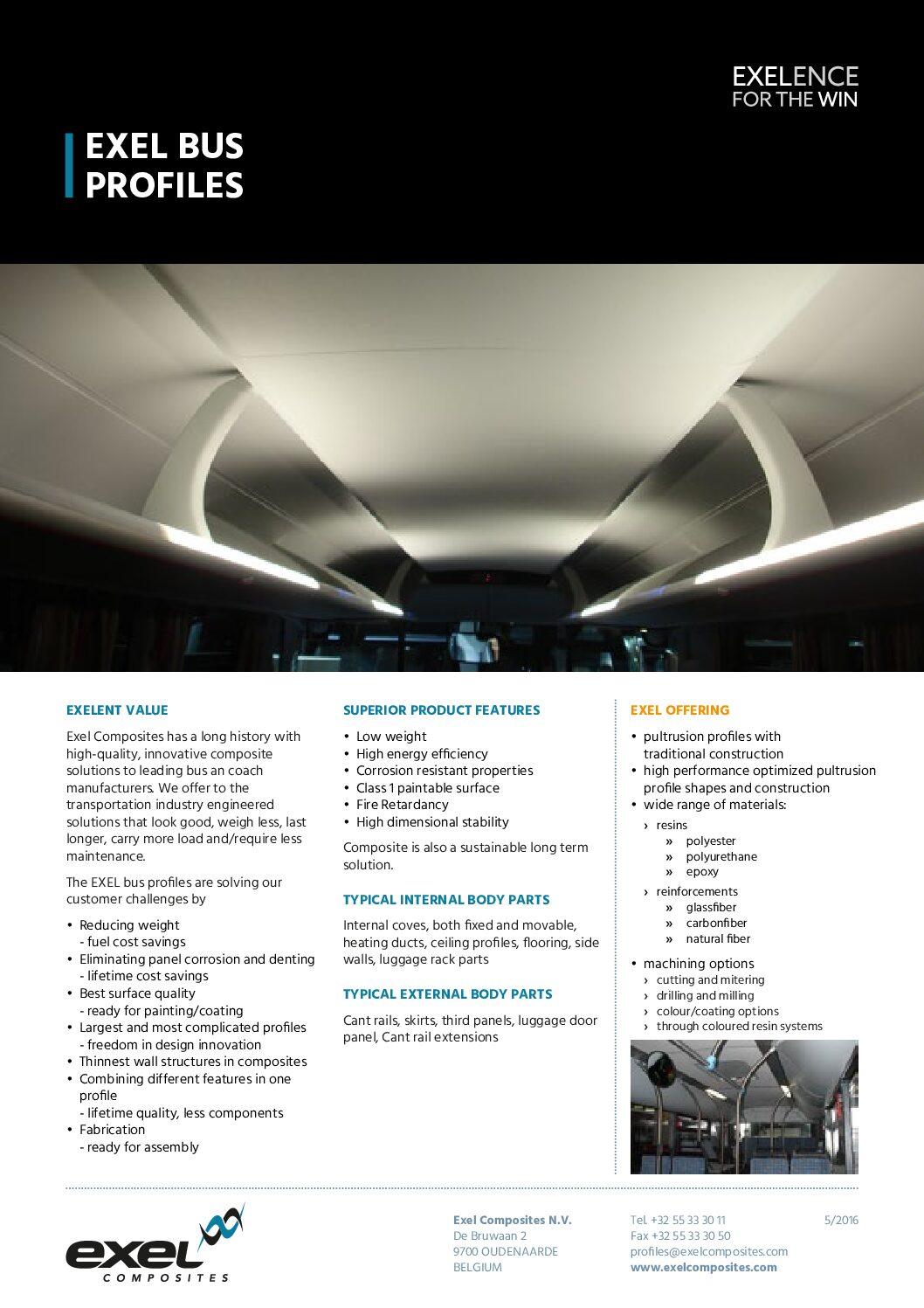 Exel Composites Bus Profiles