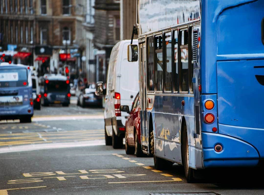 bus priority infrastructure Scotland