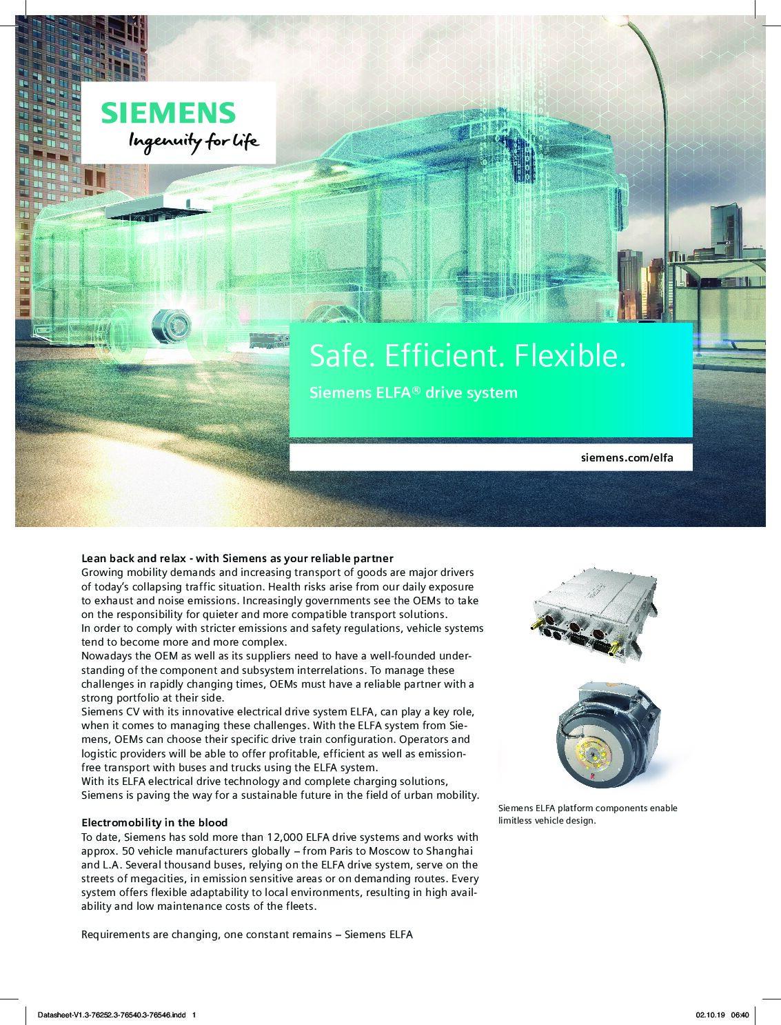 Siemens ELFA Drive System