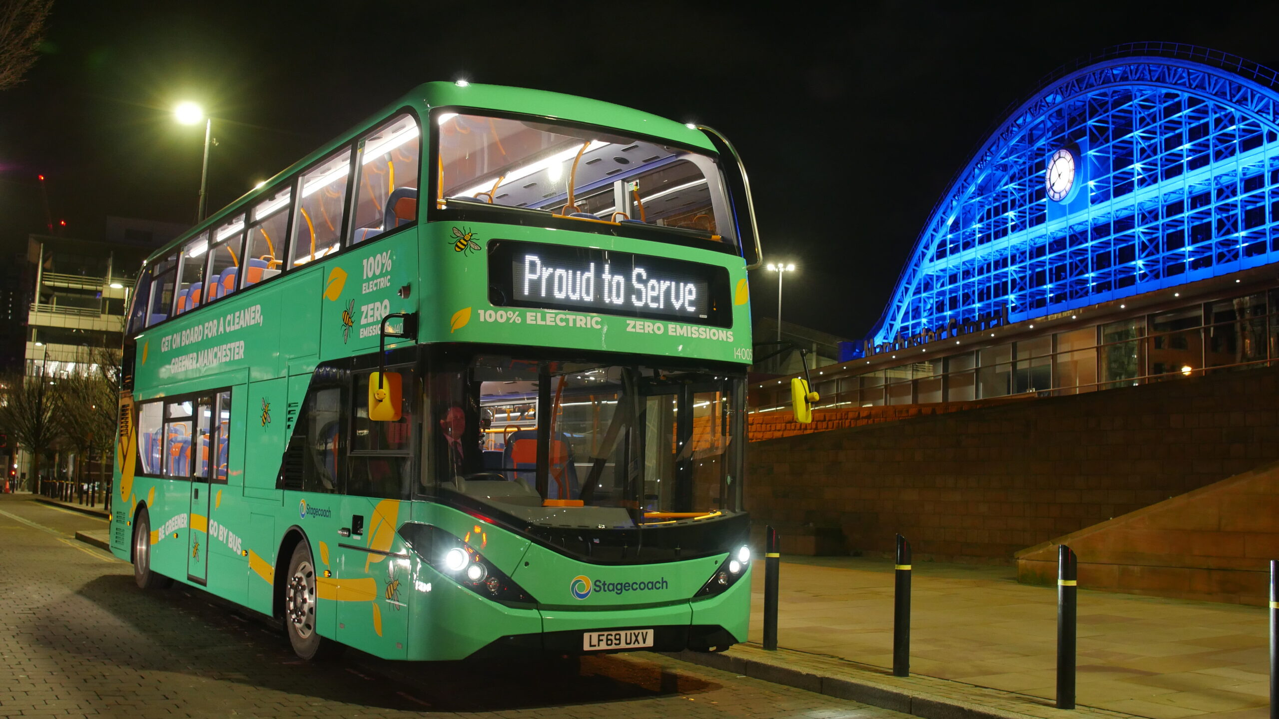 stagecoach greater manchester electric double decker