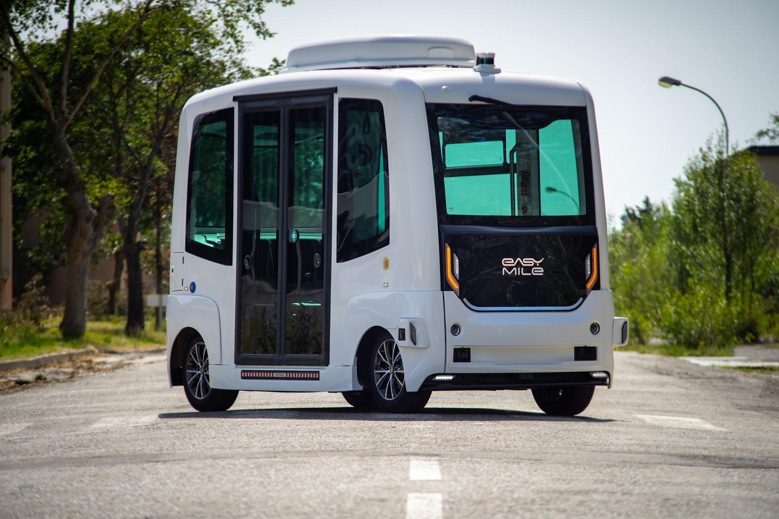 EasyMile Sono Motors autonomous shuttle solar-powered