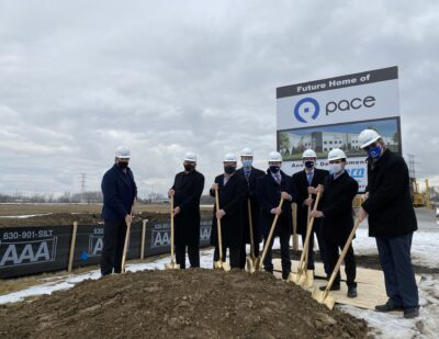 Officials Celebrate Groundbreaking for New Pace Plainfield, IL Facility