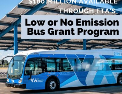 U.S. DoT Announces Funding for Low or No Emission Transit