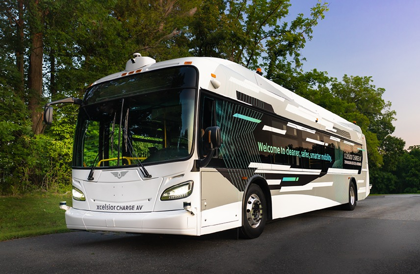 New Flyer Automated Transit bus