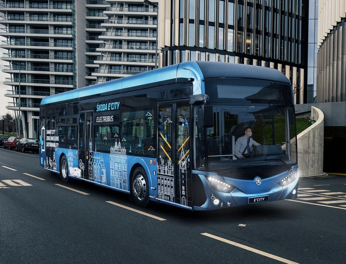 Škoda electric buses prague