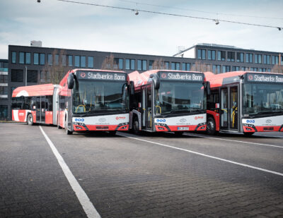 Three Zero-Emission Electric Solaris Buses Make It to Bonn