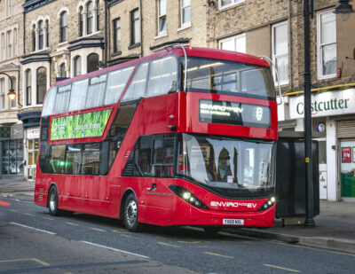 First Bus Orders 5 BYD ADL Enviro400EVs for Leeds Park & Ride