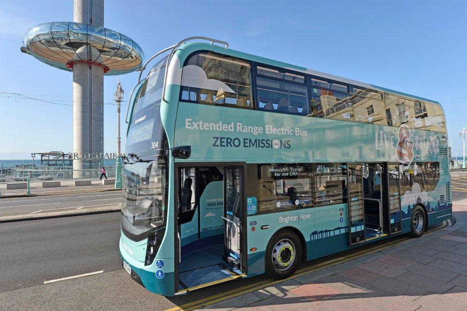 zebra zero emission buses