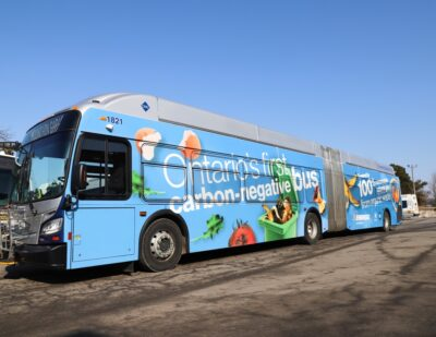 Enbridge Gas to Fuel Ontario's First Carbon-Negative RNG Bus