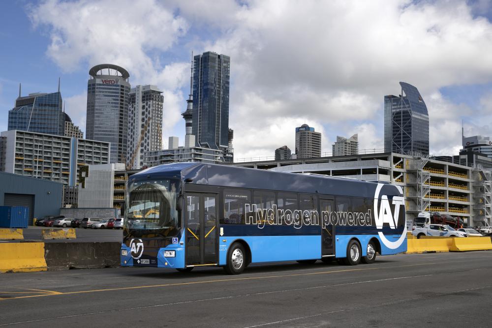 new Zealand hydrogen bus