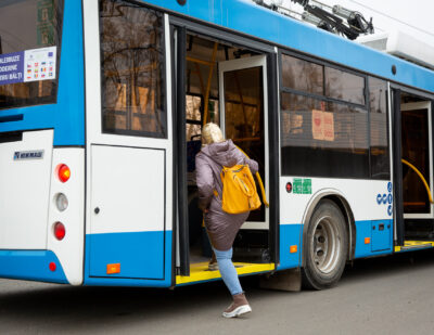 New Trolleybuses Hit the Road in Balti, Moldova