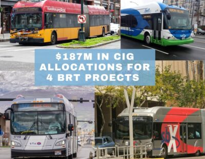 $187 Million in Federal Funding Allocations for Four BRT Projects