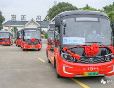 Golden Dragon STAR Tour Buses for Tourists in Jiangmen