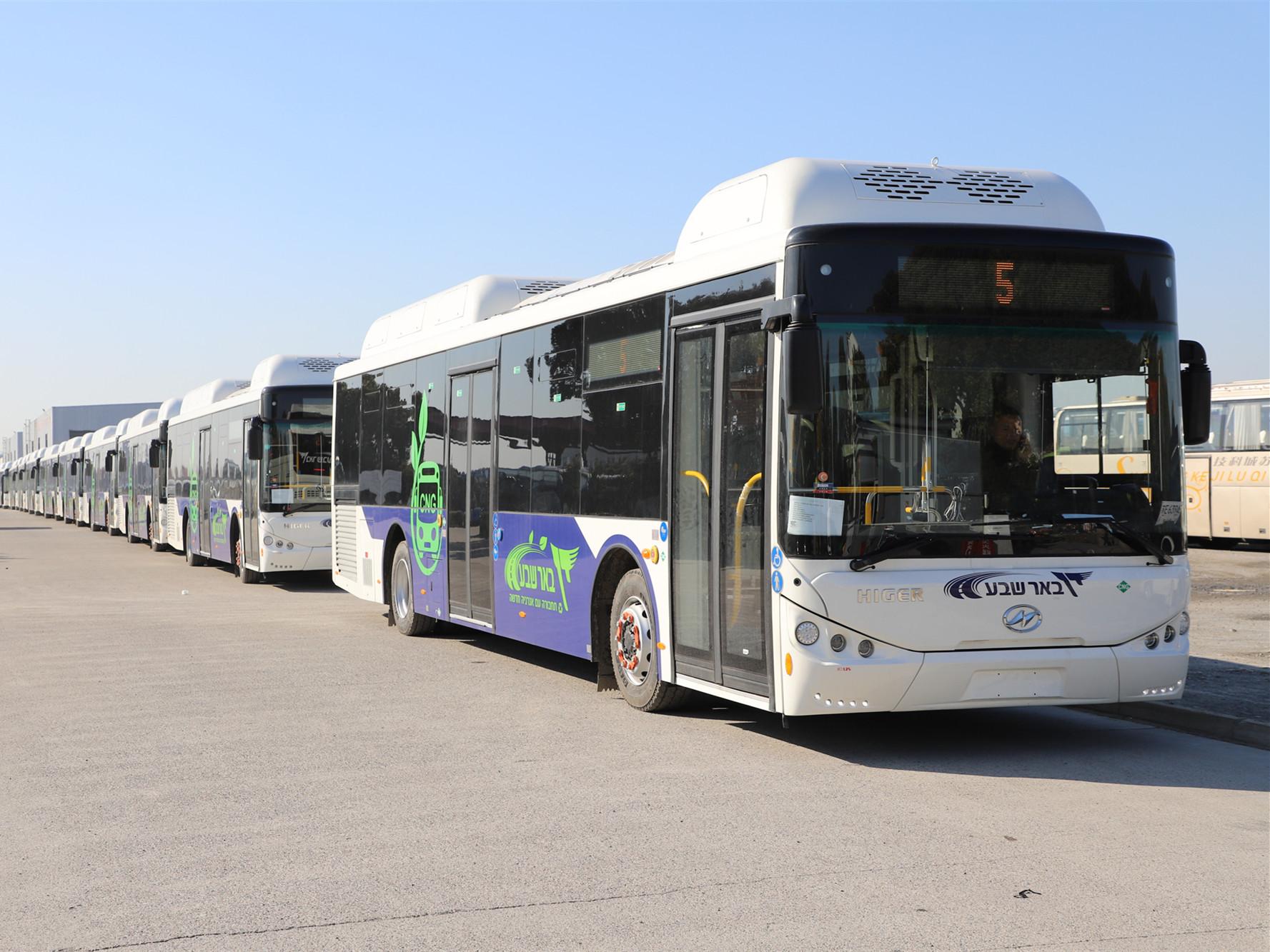 higer cng buses israel