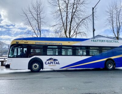 Capital Transit Unveils Alaska's First All-Electric Bus