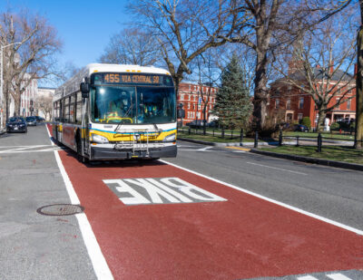 MBTA Announces Completion of First-Ever Bus Lane in Lynn