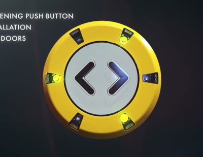Double-Sided Push Button PK52 for Glass Doors in Trains and Buses