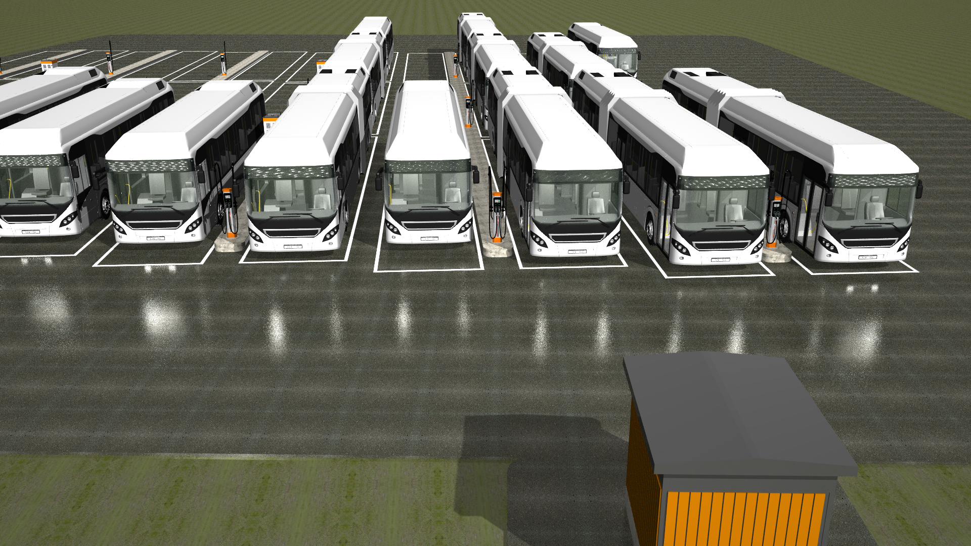 Kempower Norway electric bus depot