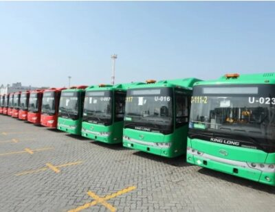 166 Natural Gas King Long City Buses for Mexico