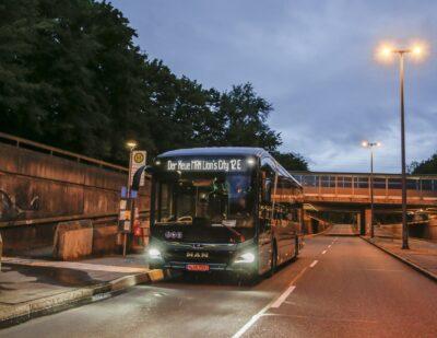 MAN Fully Electric Bus Breaks 550 Kilometre Range Barrier