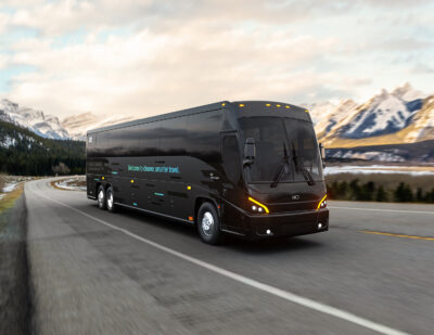 MCI Unveils Its First Battery-Electric Luxury Coach: The J4500 CHARGE™