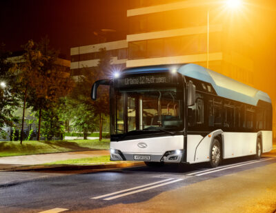 Hydrogen Solaris Buses to Set Off for Frankfurt