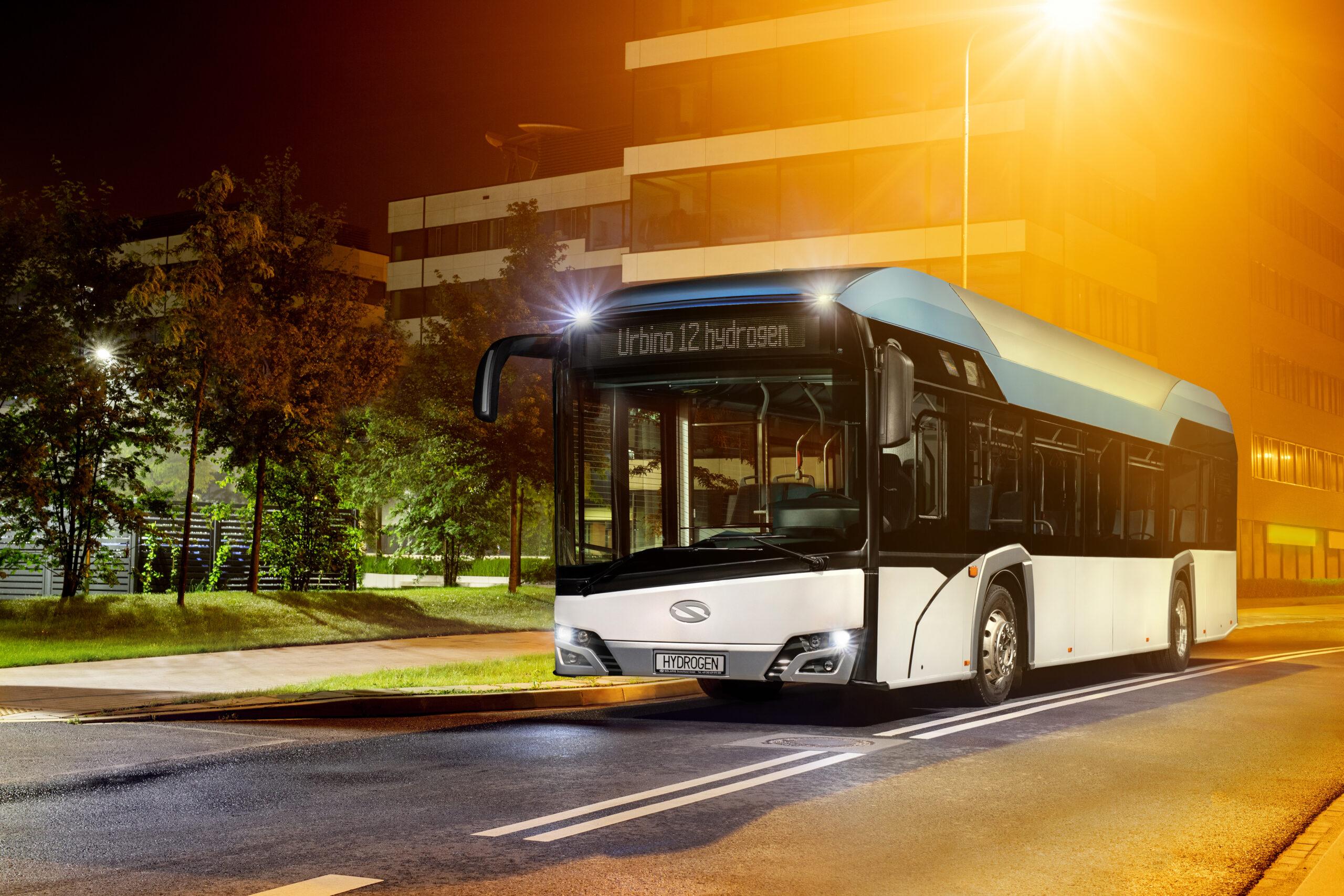 solaris hydrogen buses Frankfurt