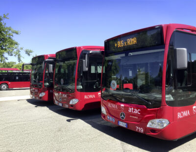 Mercedes-Benz Delivers 100 Hybrid Buses to Atac in Rome