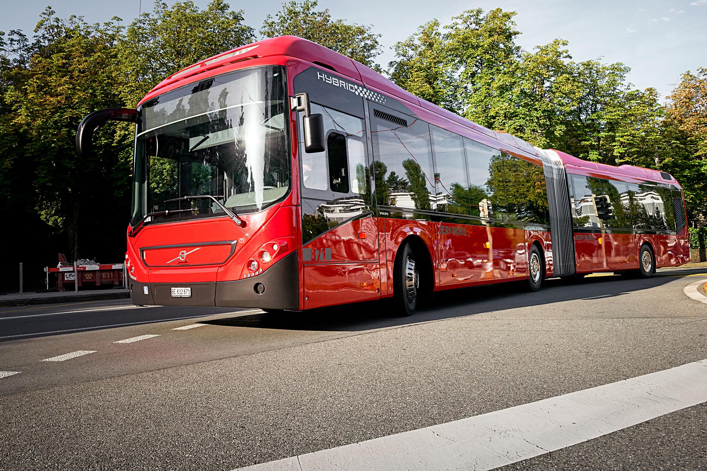 volvo hybrid buses Switzerland
