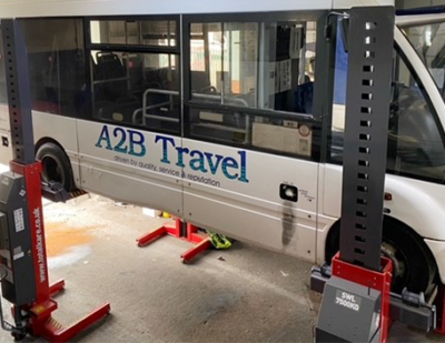 A2B Travel Lifts Capacity with Totalkare Workshop Equipment