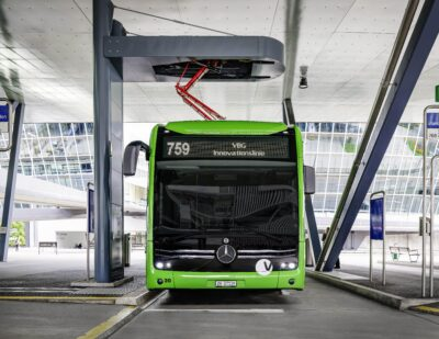 Mercedes-BenzImplements Charging Rails for eCitaros in Switzerland