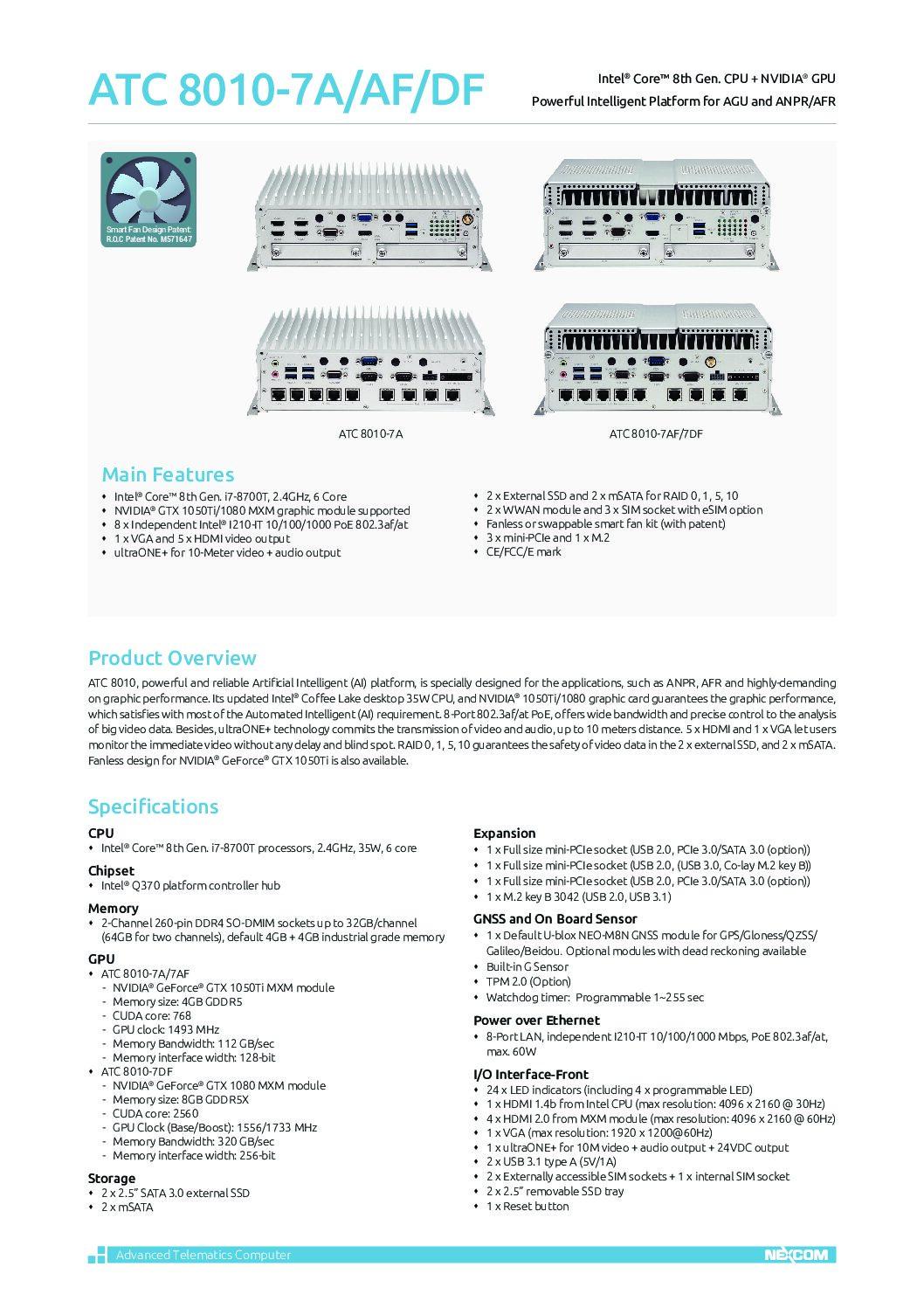 AI Edge Solution – ATC 8010-7A-AF-DF