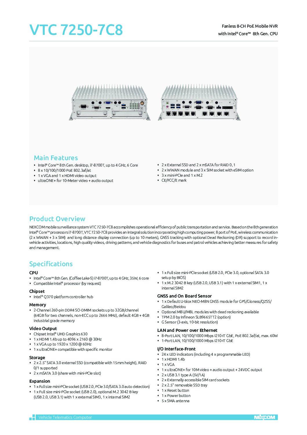 Advanced Multi-Tasking Solution – VTC 7250-7C8