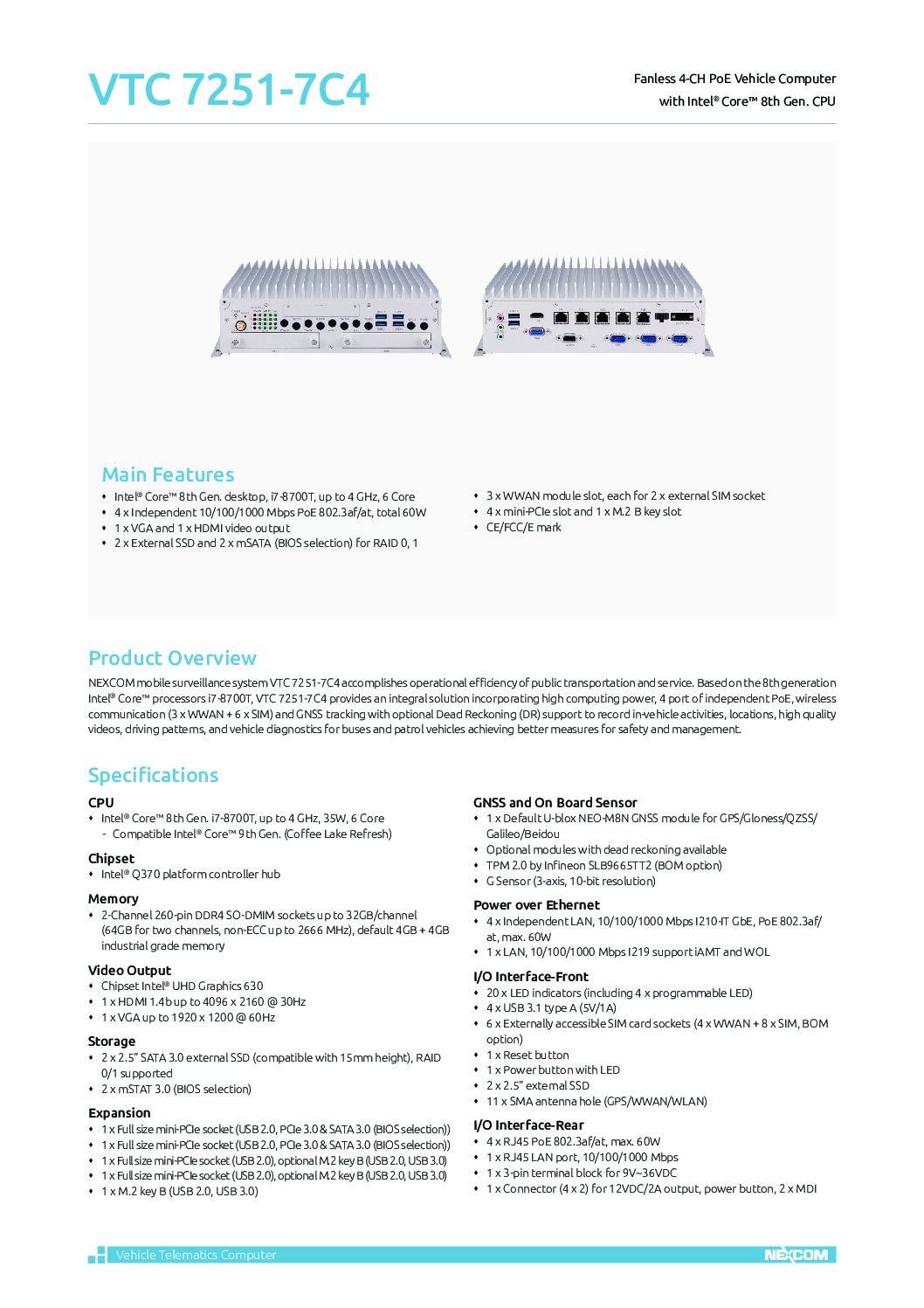 Advanced Multi-Tasking Solution – VTC 7251-7C4