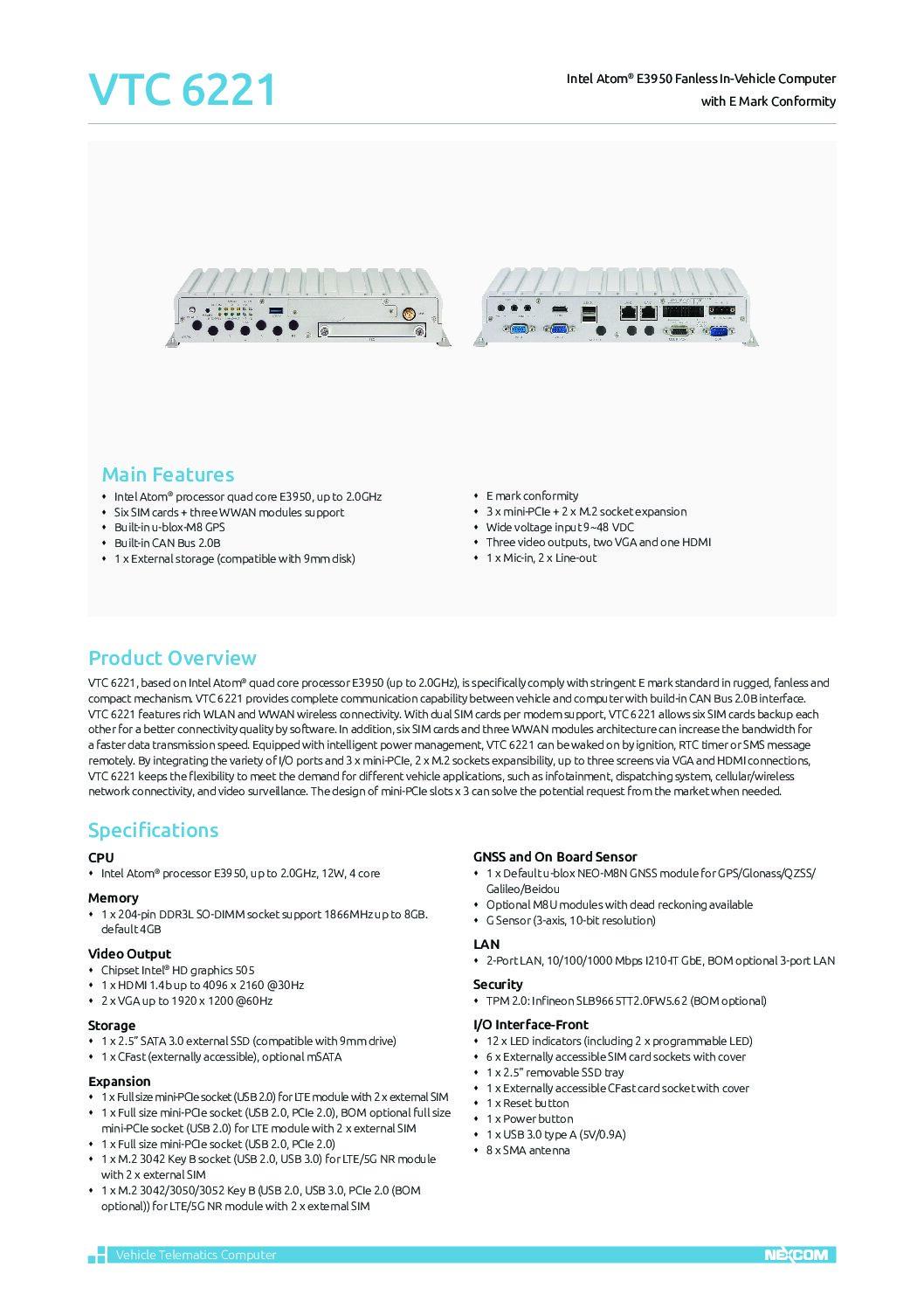Data Communication Solution – VTC 6221