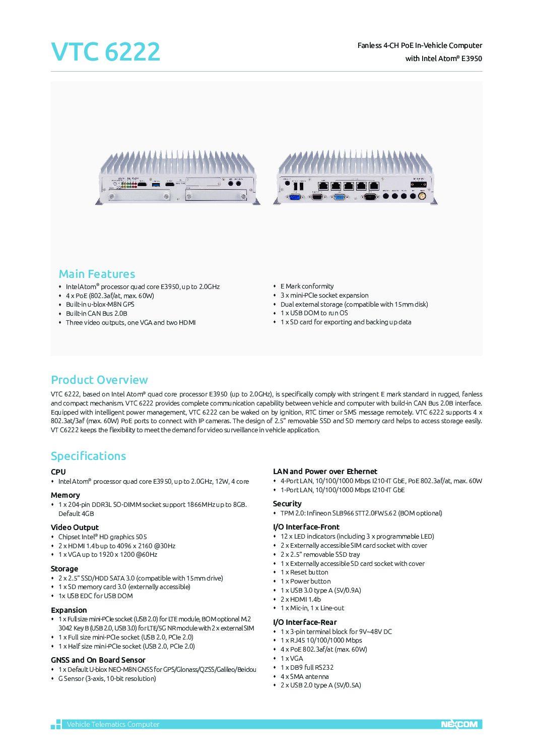 Surveillance Solution – VTC 6222