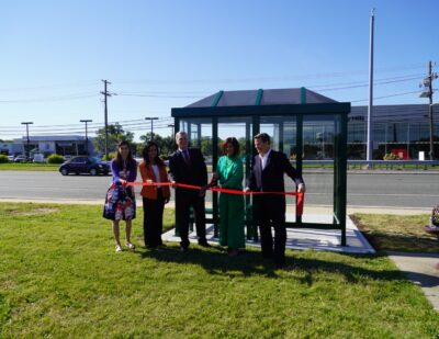 NJ TRANSIT Unveils First Solar Powered Bus Shelter