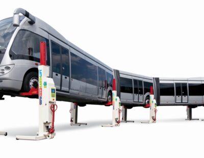 Stertil-Koni EARTHLIFT Mobile Column Lift – Articulated Bus