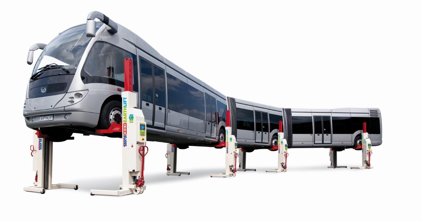 Stertil-Koni EARTHLIFT Mobile Column Lift - Articulated Bus