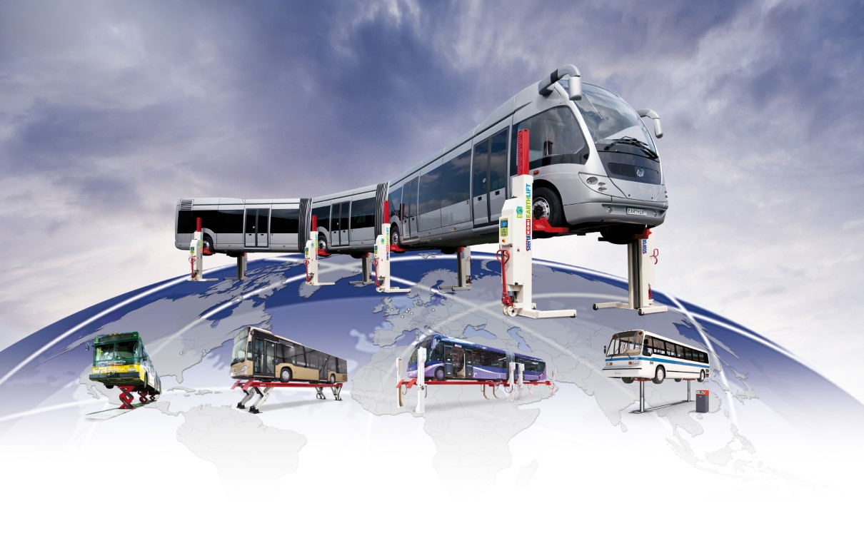 Stertil-Koni offers lifting solutions for any bus type and any bus model