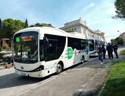 BYD Makes First Ever Delivery of eBuses in Ancona, Italy