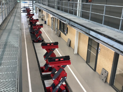 Depot Equipped with In-Ground Vehicle Lifts in Netherlands